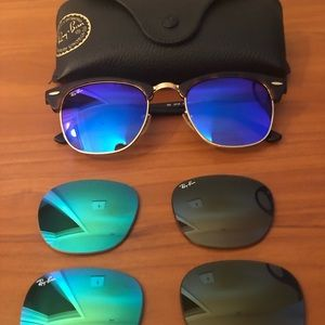 Ray Ban club masters with extra lenses